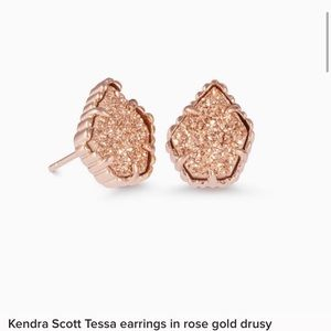 Kendra Scott earrings rose Gold druzy